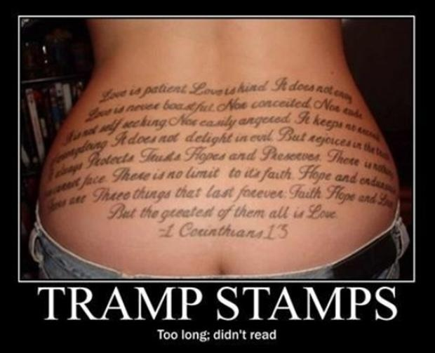 motivation, tattoo, tramp stamp, tldr, too long didn't read