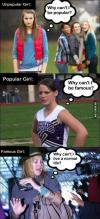 women, girls, famous, popular, unpopular
