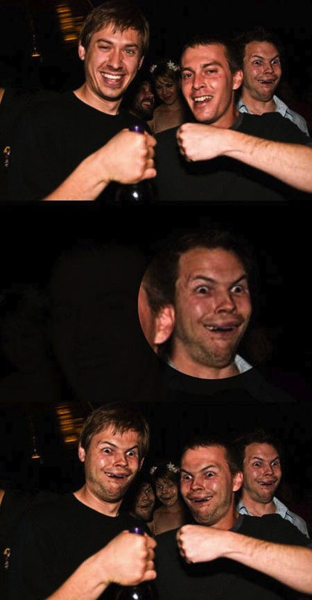 photobomb, photoshop, face swap
