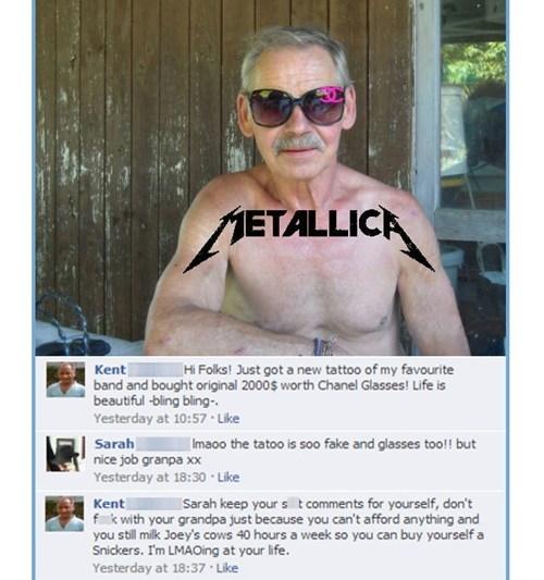 facebook, fail, tattoo, glasses, metallica, mad