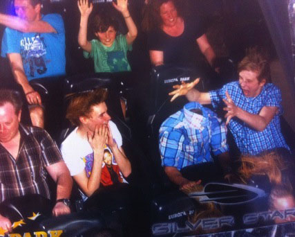 theme park, ride, photo, snapshot, magic, headless