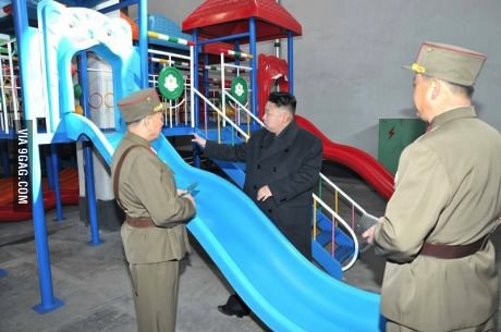 slide, north korea, kim jong un, playset