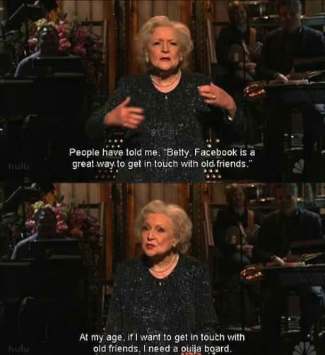 betty white, snl, joke, ouija, facebook
