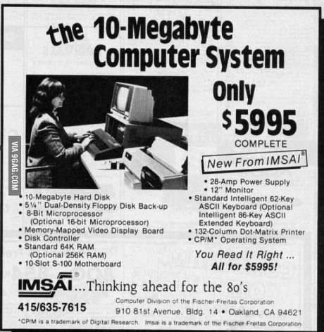 ad, old, computer, expensive