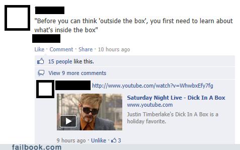 box, outside, facebook, dick, snl