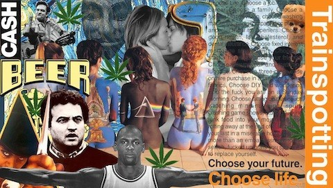 poster, collage, mashup, college