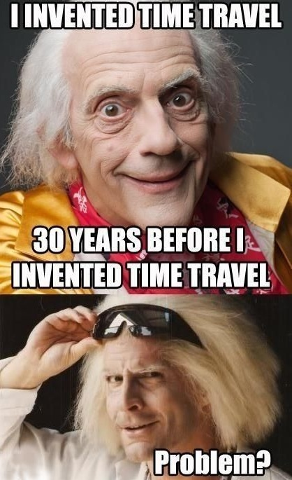 time travel, back to the future, meme