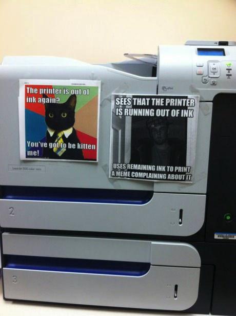 ink, meme, printer, lol