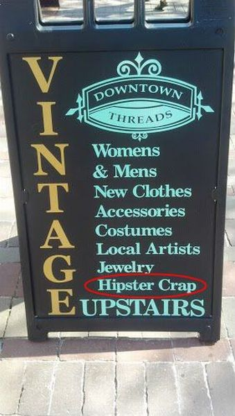 sign, store, vintage, hipster crap