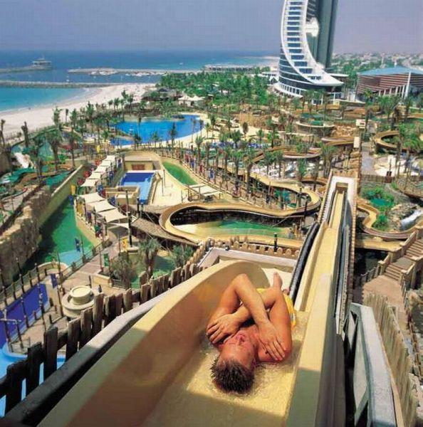 slide, resort, beautiful