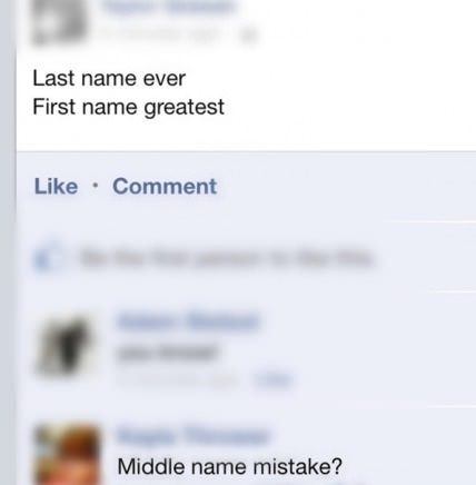 facebook, name, burn, first, last, middle