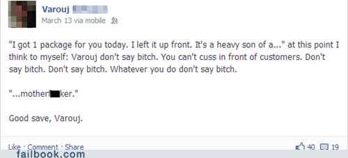 facebook, fail, swearing, heavy, client, lol