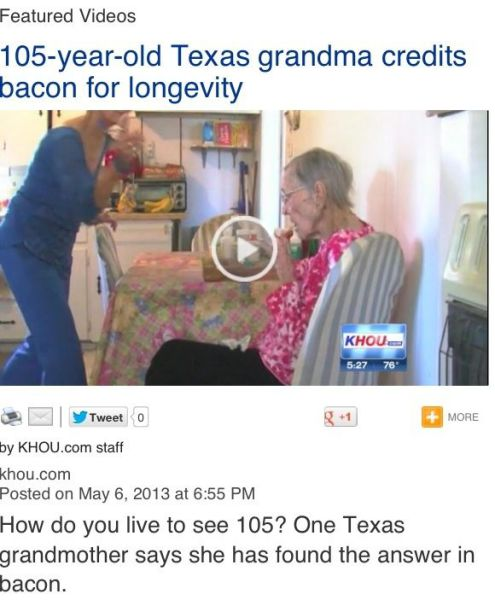 bacon, news, old person, the answer