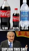 coke, water, price, ron paul