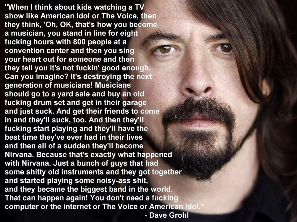 dave grohl, nirvana, musician, kids, next generation, bands, reality tv