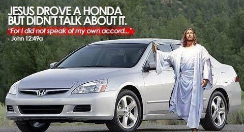 jesus, honda, accord, bible, ad