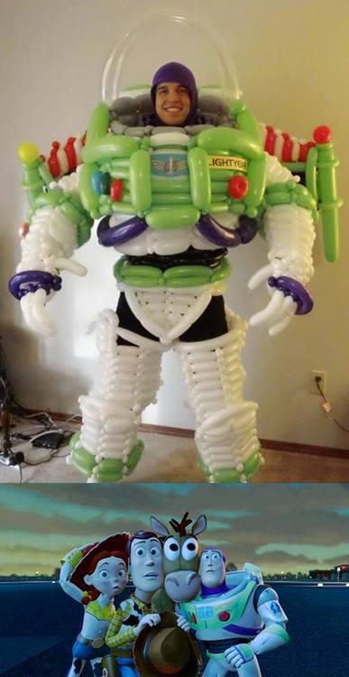 balloon, toy story, buzz lightyear, costume