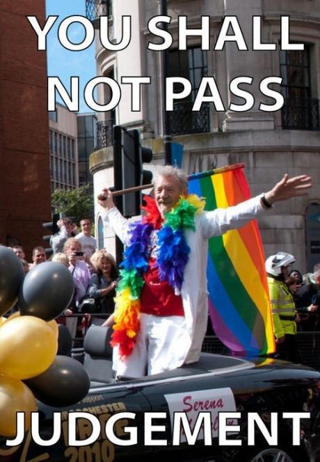 gay pride, gandalf, ian mckellen, meme