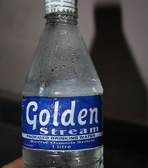 bottle, water, golden stream, brand name, fail, worst