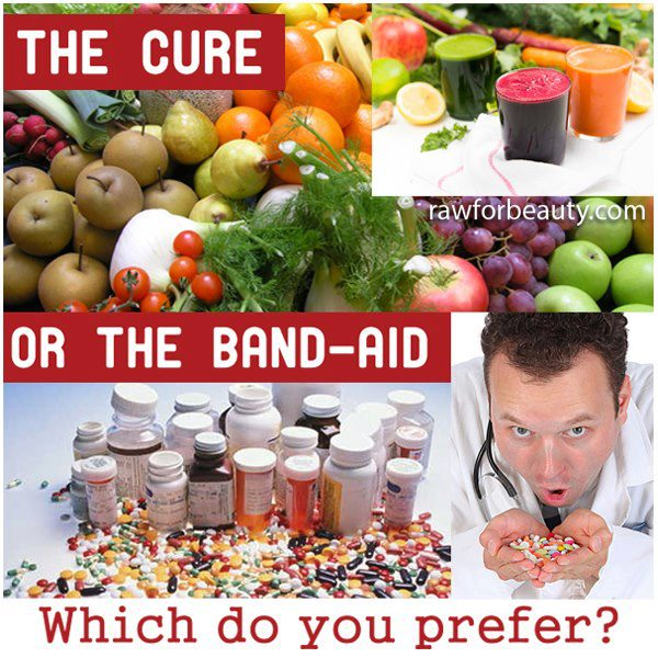 the cure of the band aid, healthy living versus disease treatment when it's too late, which do you prefer?