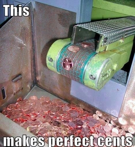 coins, mint, wordplay, machine, pennies, cents