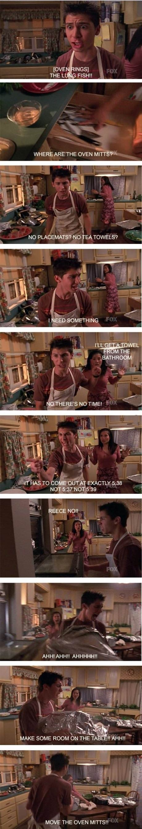 malcom in the middle, tv show, stupid, oven mitts, stove, comic