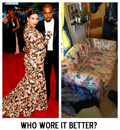 fashion, fail, kim kardashian, couch