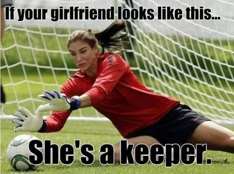 pun, wordplay, meme, girlfriend, keeper, soccer