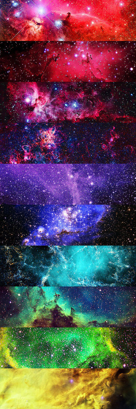 universe, space, colors, beautiful, shades, art