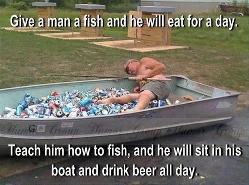 meme, fish, man, teach, boat, drink