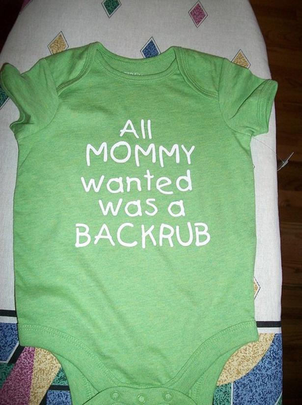 baby jumper, mommy, back rub, lol