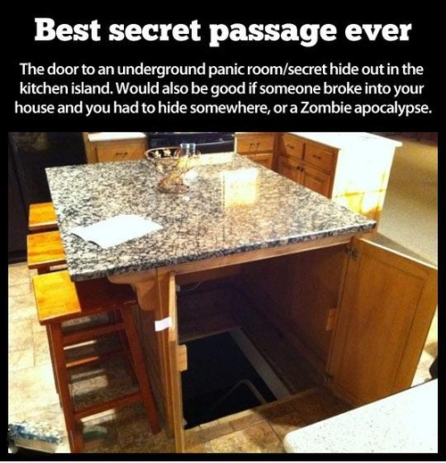 secret room, passage, best, kitchen, island