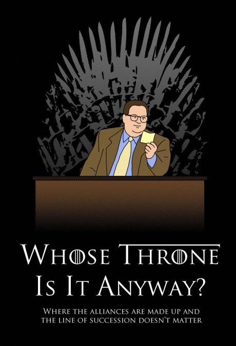whose throne is it anyway, where the alliances are made up and the line of succession doesn't matter, drew carey