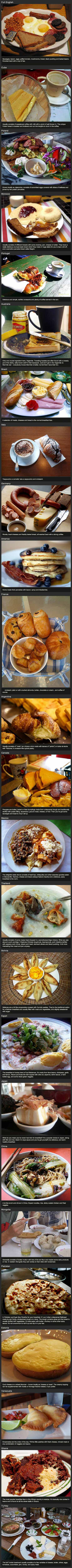 traditional breakfast around the world, compilation