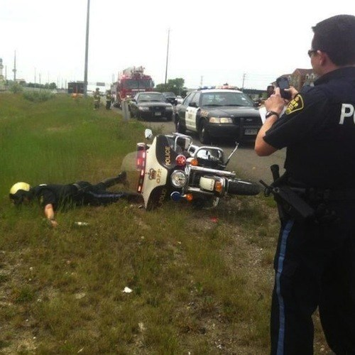 cop, motorcycle, fail, police