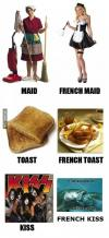 french, toast, maid, kiss