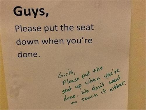 seat, toilet, sign, guys, girls