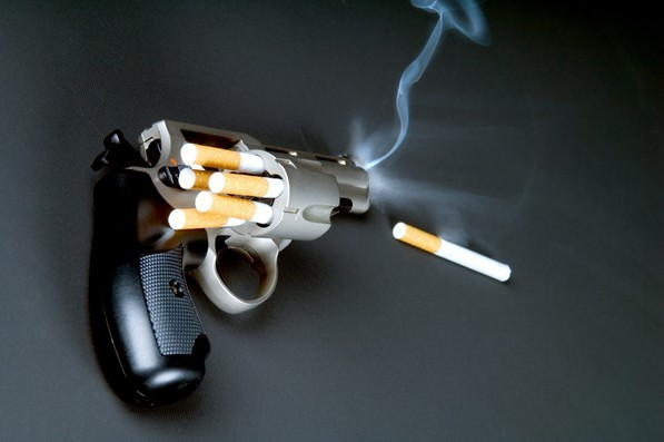 gun, cigarettes, loaded, smoking, ad
