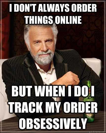 track, order online, most interesting man, meme