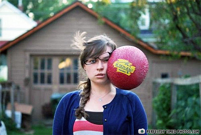 dodgeball, timing, face, hit, ouch