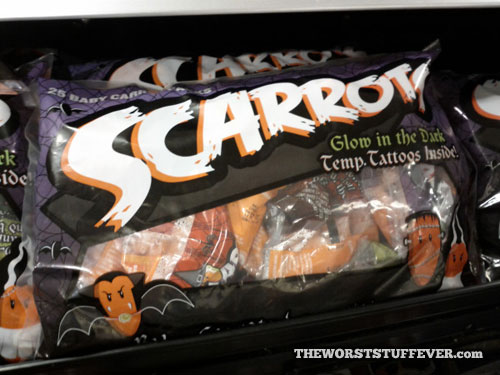 worst, product, carrots, scare, wordplay, temporary tattoo