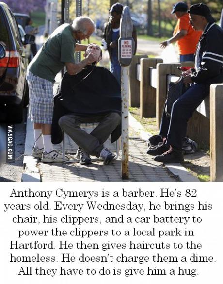 barber, good guy, faith in humanity, homeless, hair cut