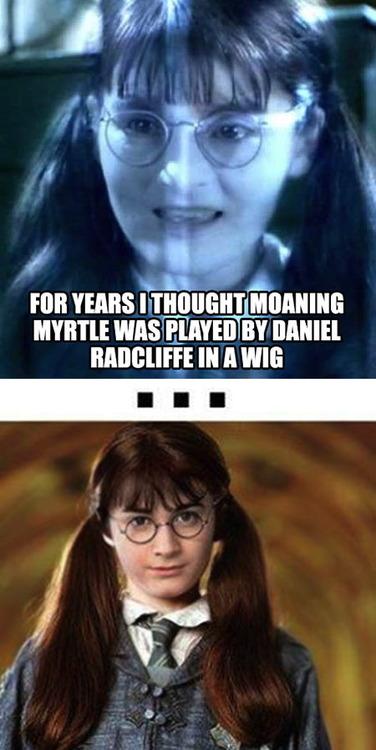 harry potter, moaning myrtle, daniel radcliffe