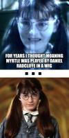 harry potter, moaning myrtle, daniel radcliffe