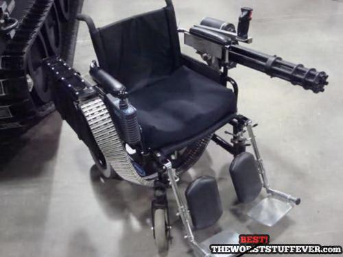 best, wheelchair, 'murica, chain gun, bullets
