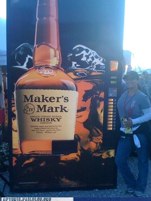 vending machine, whiskey, win