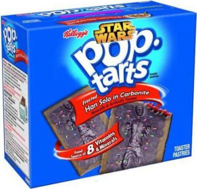 pop tarts, star wars, han solo, carbonite