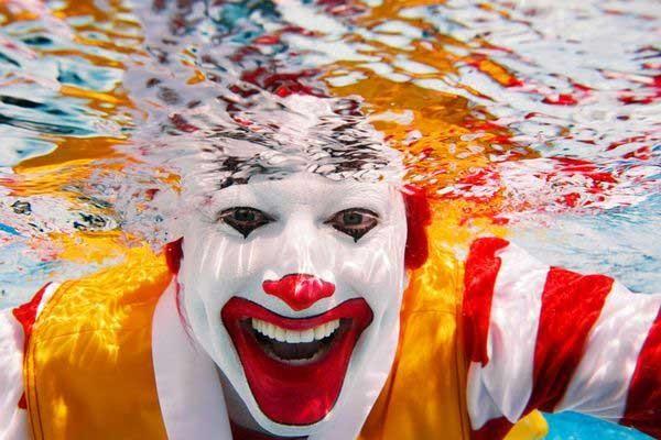 mcdonald's, clown, creepy, under water