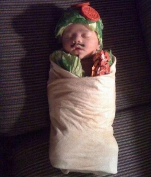 baby, sandwich, wtf, wrap