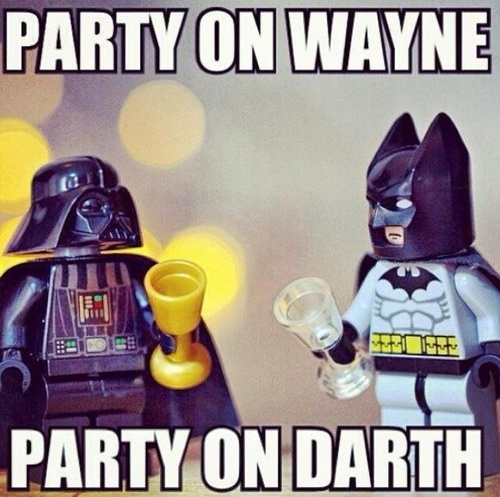 meme, lego, darth vader, batman, party
